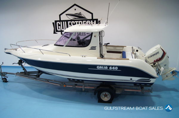 2003 Galeon Galia 640 Pilothouse with 2018 Evinrude E-TEC 135HP Outboard For Sale at GulfStream Boat Sales - UK and Ireland